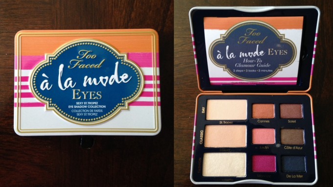 too faced a la mode side by side
