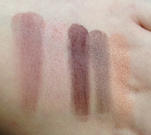ebb log smoke and melrose swatches