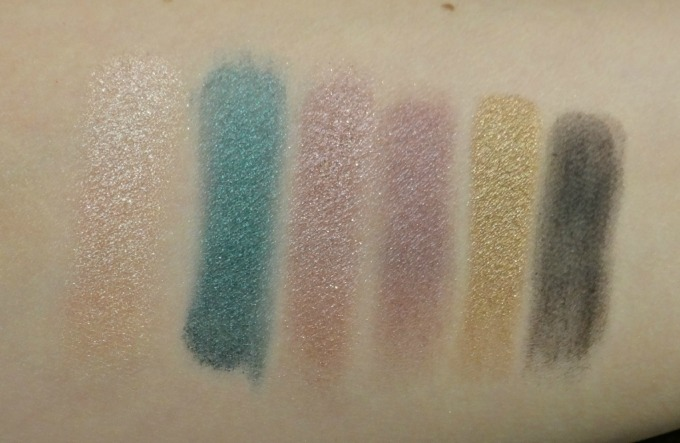urban decay shadow box swatches 1