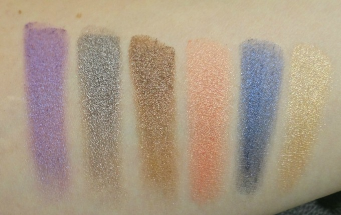urban Decay shadow box swatches line 2