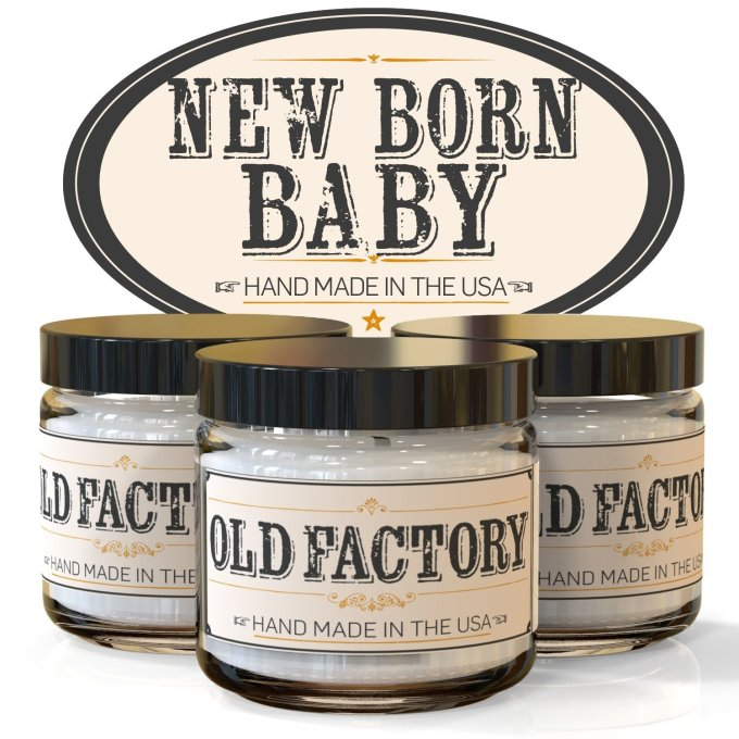 old factory candles new born baby