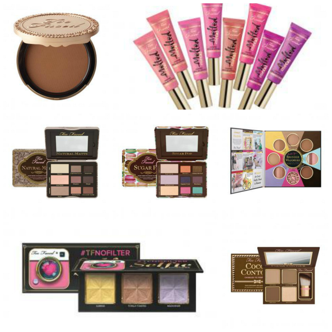 too faced summer #selfies collage