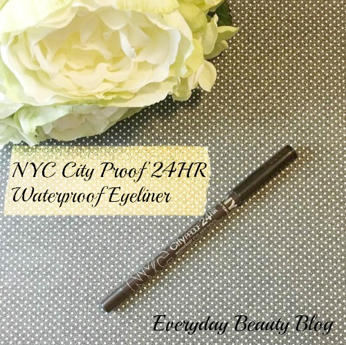 NYC City Proof 24HR Waterproof Eyeliner review everyday beauty blog