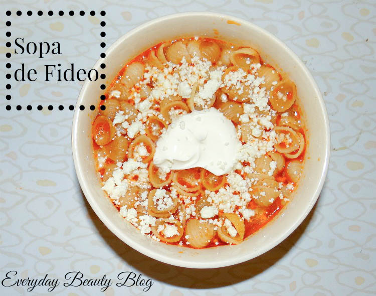 everyday beauty blog sopa de fideo